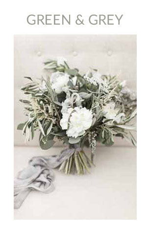 GREEN GREY WEDDING COLOUR SCHEME AUTUMN WINTER