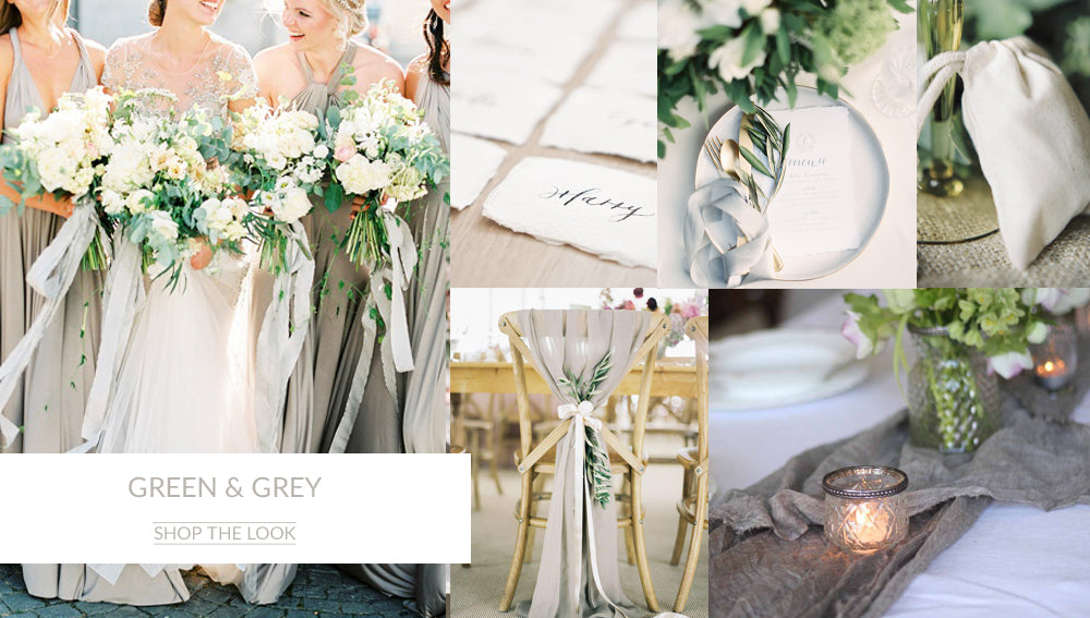 Green Grey wedding colour schemes Autumn Winter