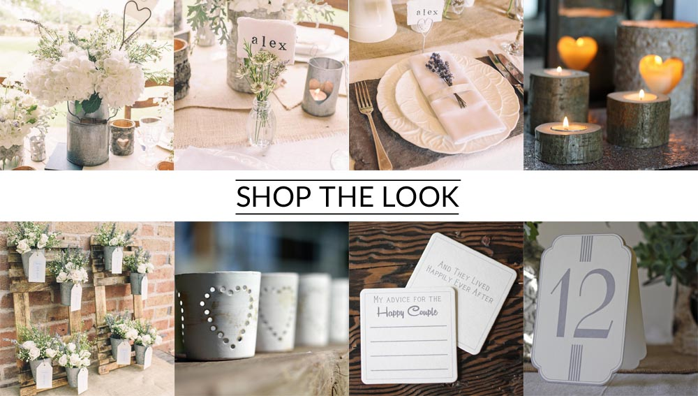 Milk churn wedding centrepiece shop the look