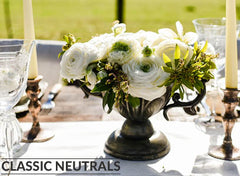 Classic neutral wedding decorations for sale