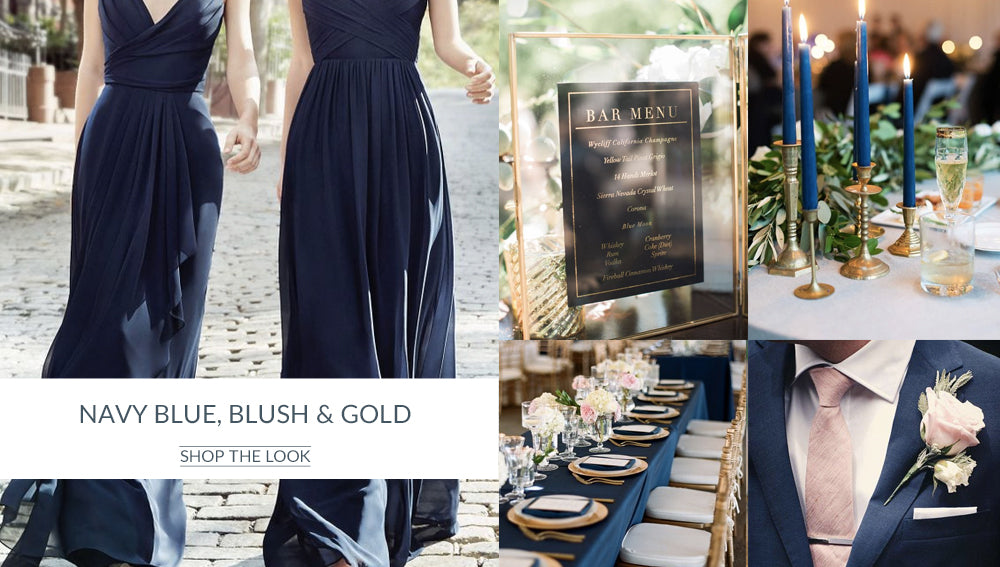 Navy Blue Blush Gold Wedding Colour Scheme The Wedding Of My Dreams