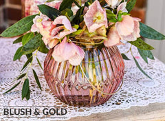 blush pink and gold wedding decorations for sale