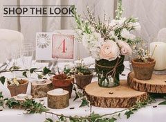 rustic barn wedding centrepieces