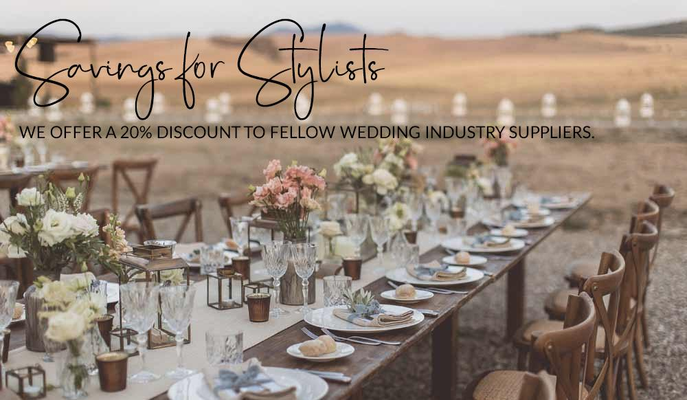 savings for stylists wedding decorations wholesale