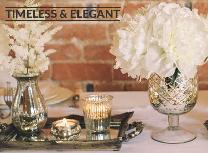 Timeless elegant wedding decorations for sale