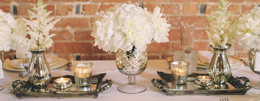 Timeless wedding centrepieces and decorations for sale