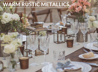 rustic metallic bronze copper wedding decorations for sale
