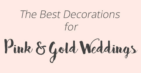 best decorations for pink and gold