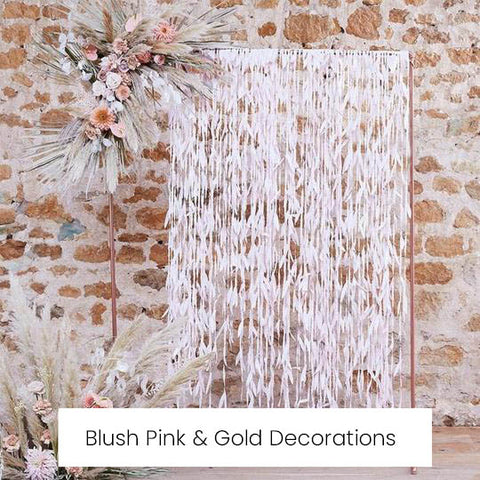 blush pink and gold wedding decorations