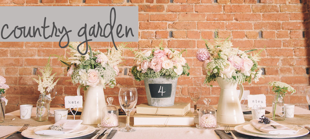 Country Garden Wedding Decorations | Wedding Table Decorations for ...