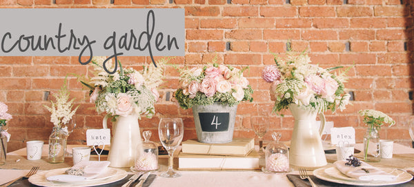 country garden wedding decorations