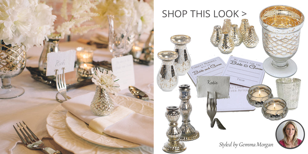 mercury silver wedding table decorations vases candle sticks candle holders
