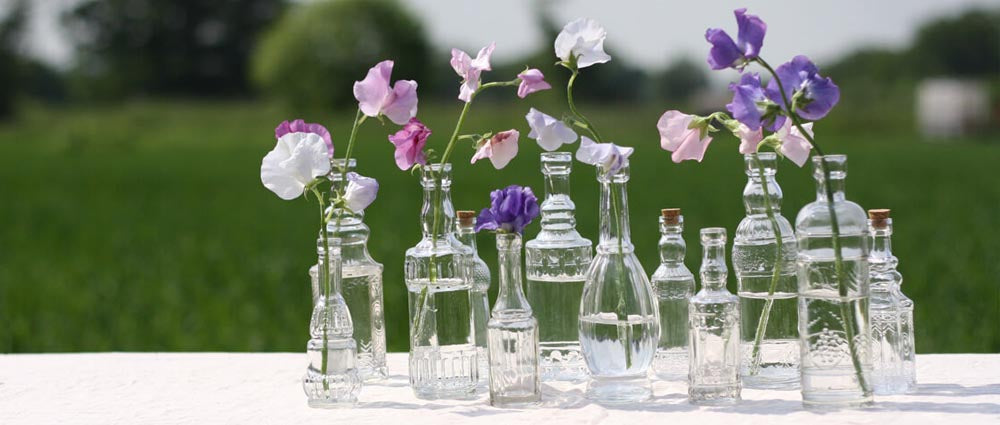 glass vase bottles for weddings