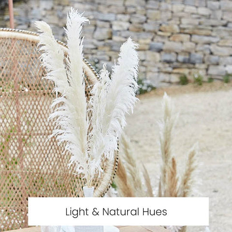 light and natural wedding decorations