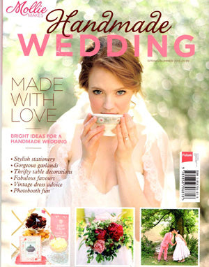 the wedding of my dreams featured in mollie makes wedding magazine
