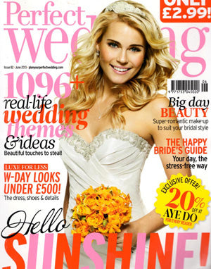 the wedding of my dreams featured in perfect wedding magazine
