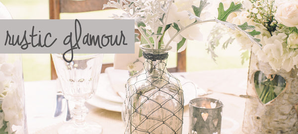 rustic glamour wedding decorations
