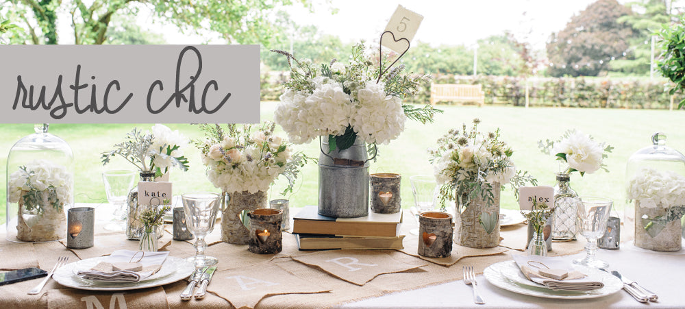 rustic chic wedding decorations