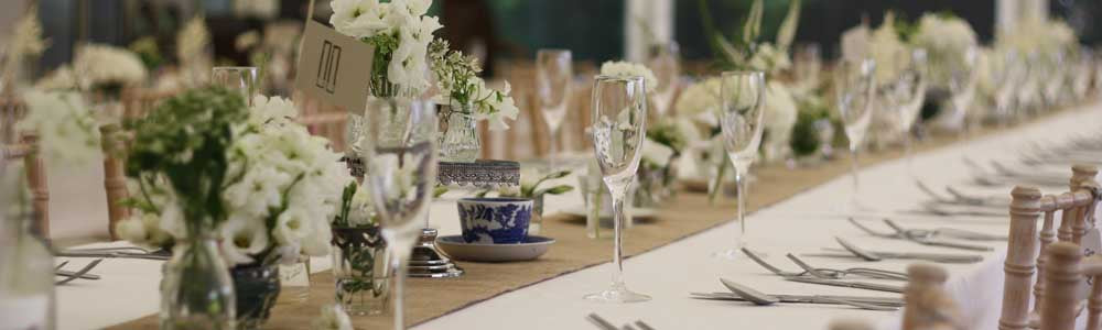 hessian wedding table runners
