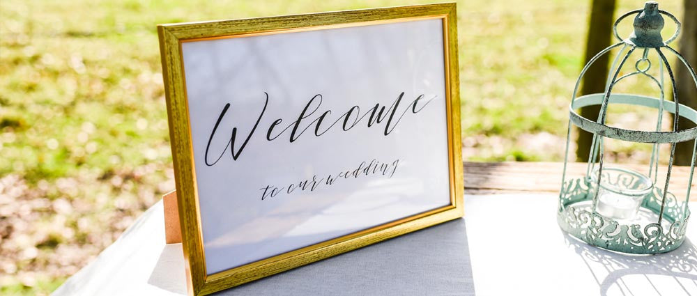 welcome wedding signs for weddings for sale