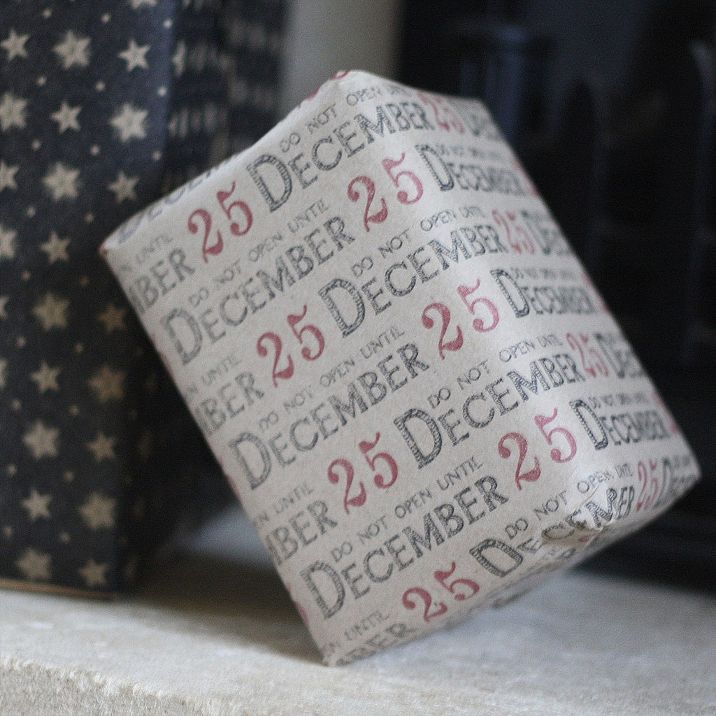 Do Not Open Before 25 December Wrapping Paper