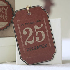 Red Card Christmas Gift Tags