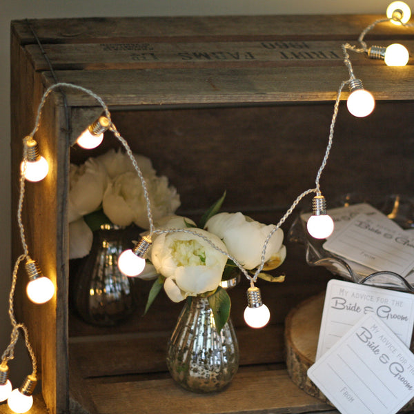 Mini Globe String Of Light Bulbs 2m