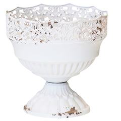 Antique White Compote Vase Urn (2 sizes)
