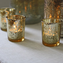 antique gold tea light holders wedding
