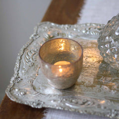 Antique Gold Tray For Group Of Candles