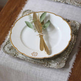Antique Gold Luxe Charger Plate