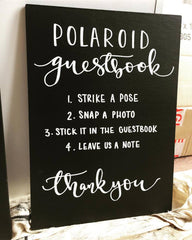 Bespoke Blackboard Wedding Sign