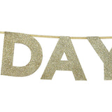 Best Day Ever Gold Glitter Wedding Bunting - available from @theweddingomd