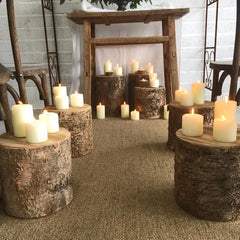 Birch Bark Tree Stumps For Rustic Weddings available from @theweddingomd The Wedding of my Dreams
