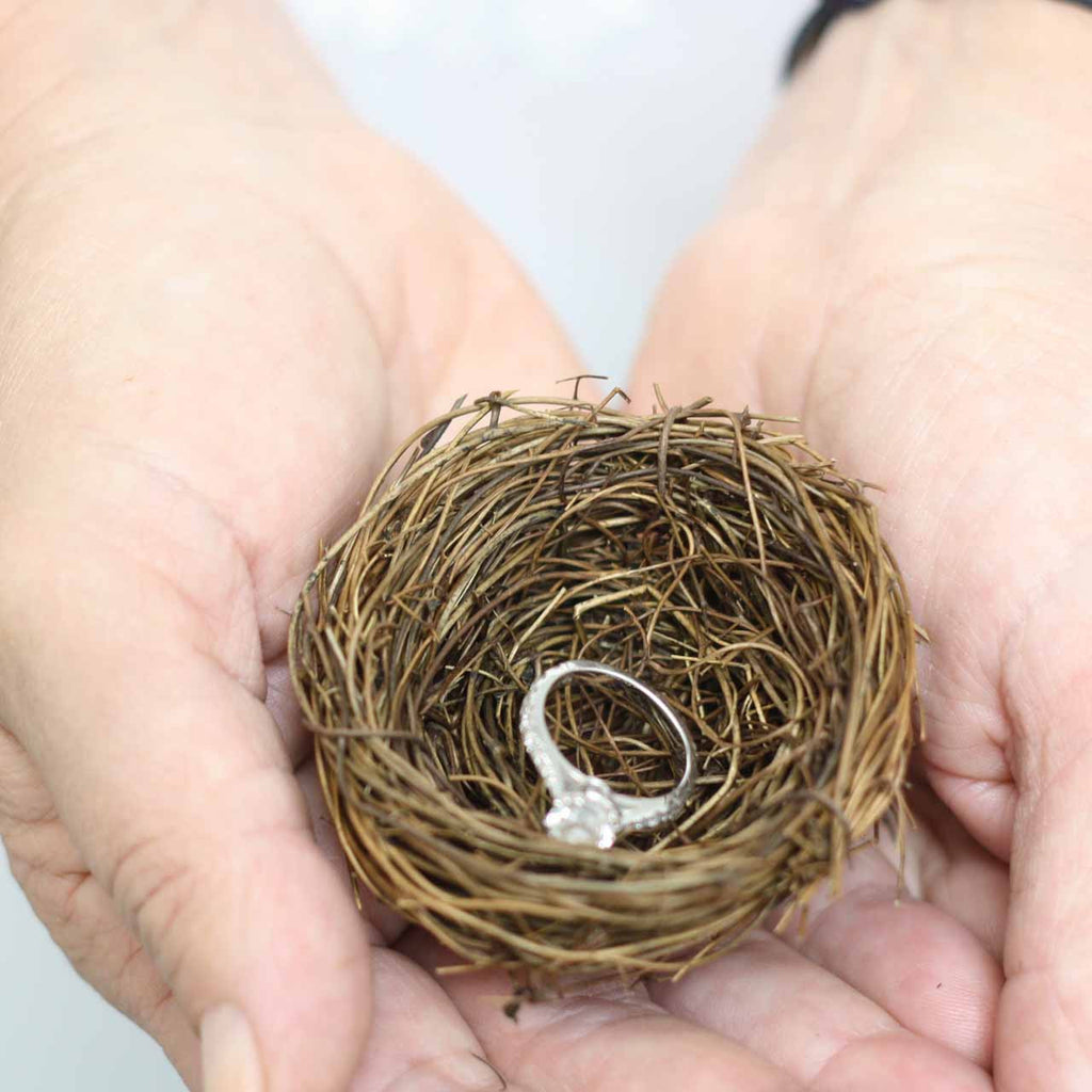 Birds Nest Wedding Ring Pillow available from The Wedding of my Dreams