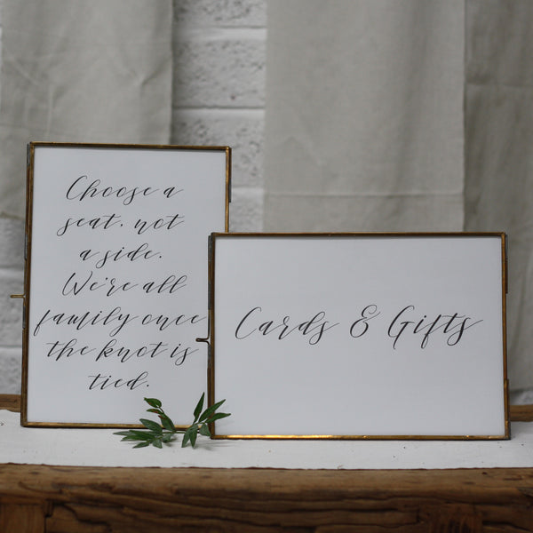 Brass Photo Frame A4 available from The Wedding of my Dreams
