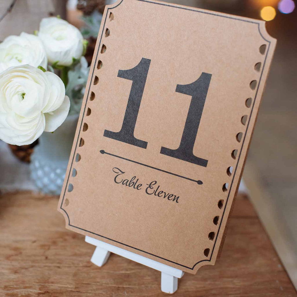 Mini White Wooden Easel wedding table numbers