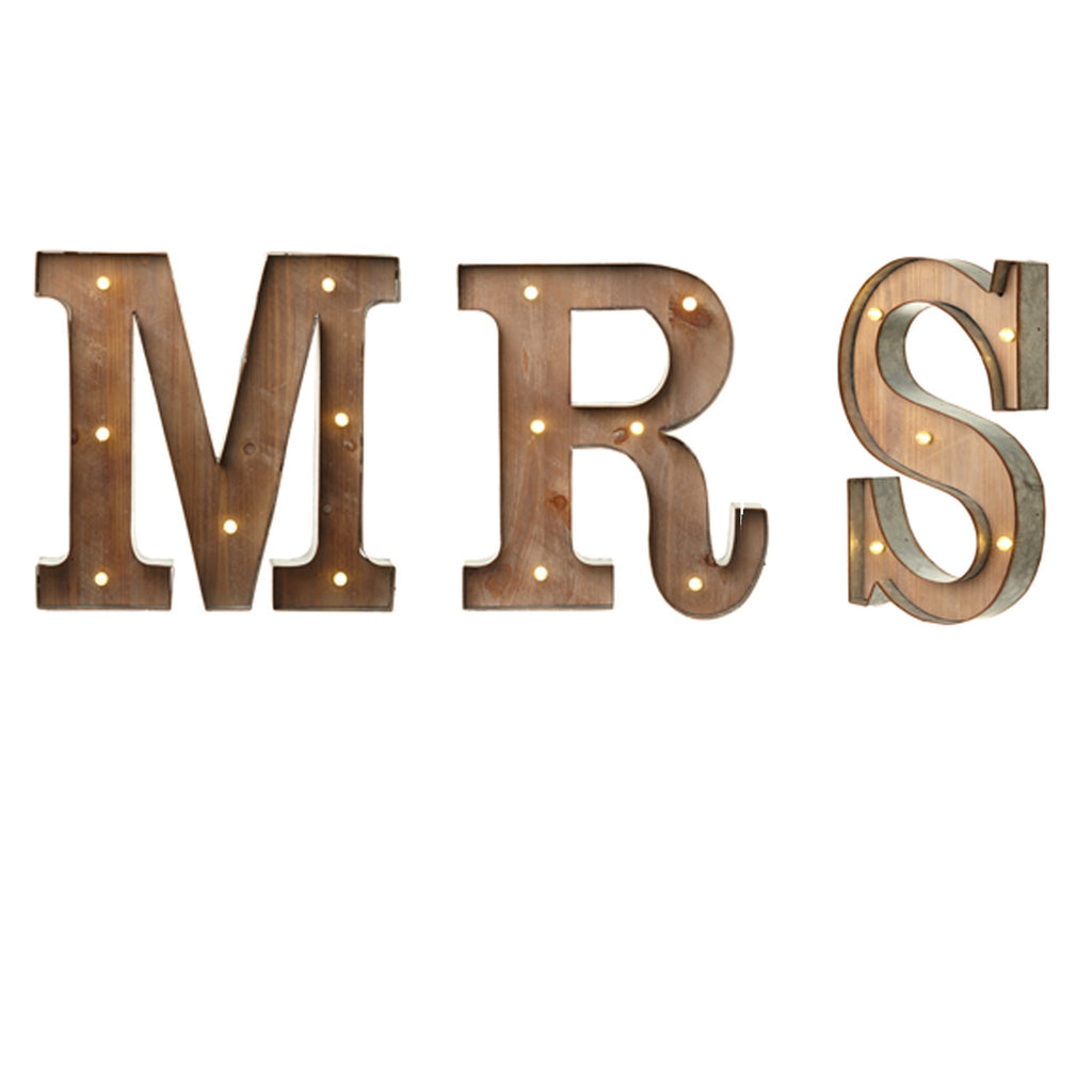 Carnival Light Up Letters MRS