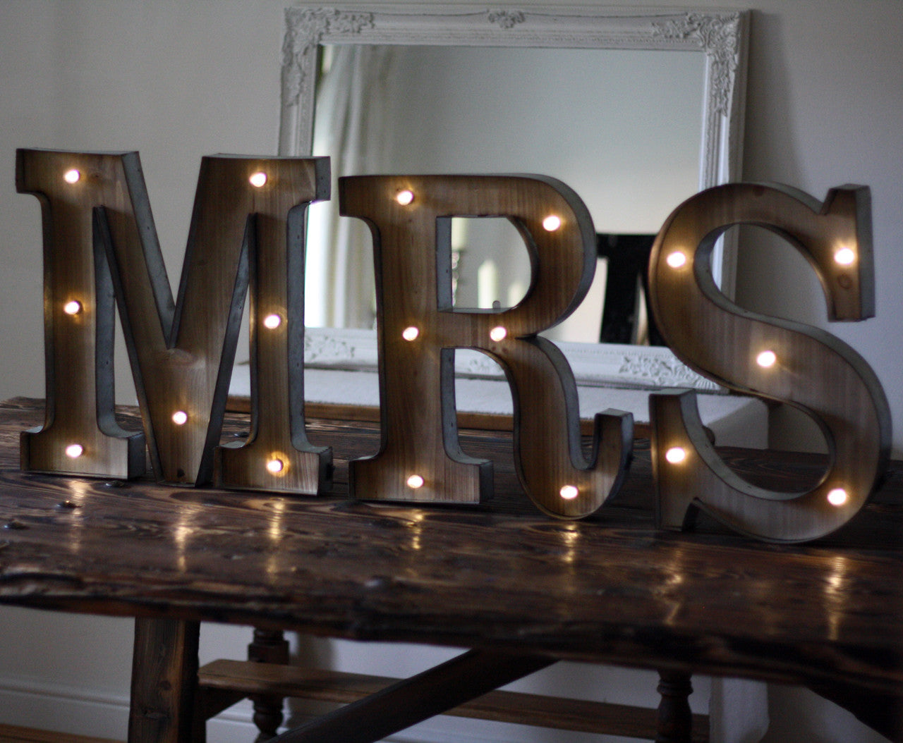 Tin Letters With Lights Adorable Carnival Light Up Letters Mrs  The Wedding Of My Dreams 2018