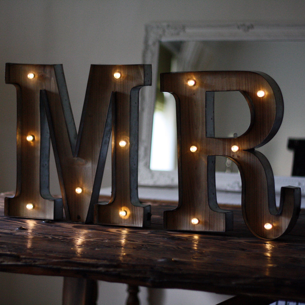 Carnival Light Up Letters Mr The Wedding Of My Dreams