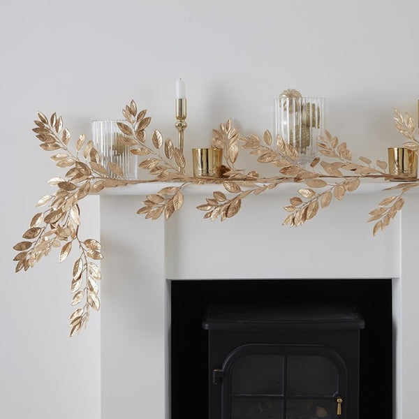 Christmas Garland Gold Foliage