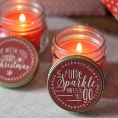 Christmas Scented Candle In Mason Stocking Filler