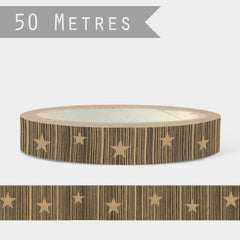Brown Kraft Christmas Gift Wrapping Tape 50m