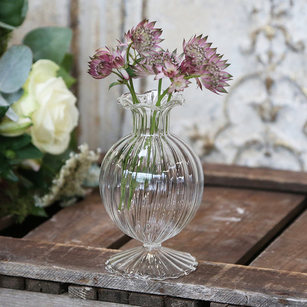 Delicate Glass Bud Vase wedding styling available from The Wedding of my Dreams