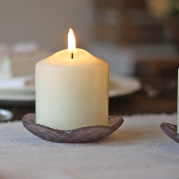 Dusky Pink Church Candle Holder - available from @theweddingomd