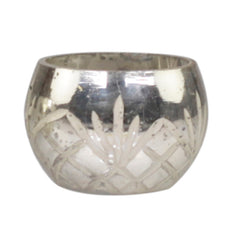 Antique Silver Tea Light Holder Etched Criss Cross Design - The Wedding of my Dreams