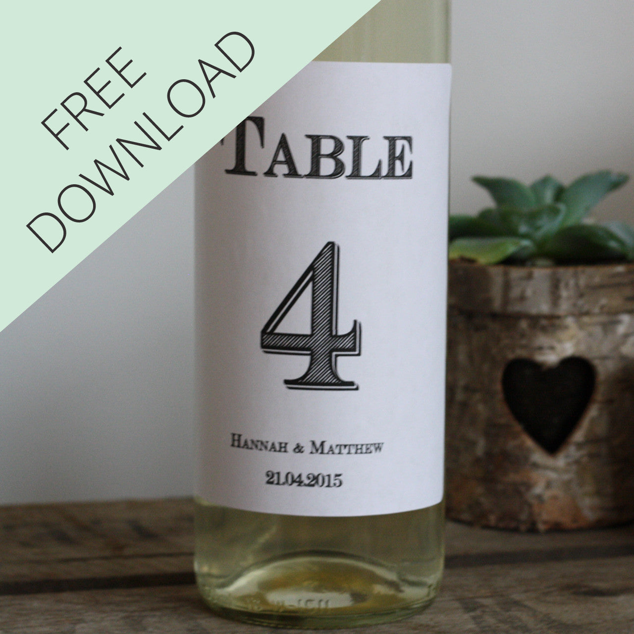 graphic regarding Free Printable Wedding Table Numbers referred to as Wedding ceremony Desk Quantities Template For Wine Bottles - Absolutely free