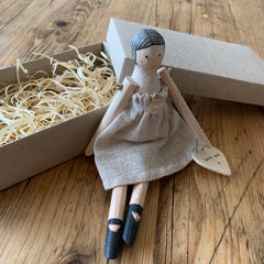 Flower Girl Gift Wooden Doll The Wedding of my Dreams