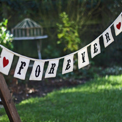 Forever Bunting for wedding engagement photos avaiable from @theweddingomd