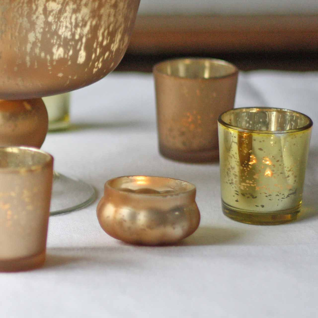 Frosted gold tea light holders floating tea lights available from  theweddingomd The Wedding